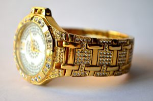 Men's Golden Diamond Watch